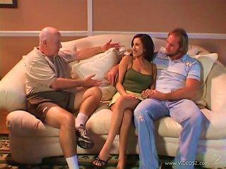 Horny Wife In Seductive Miniskirt Gets Screwed Deep In Cuckold Scene