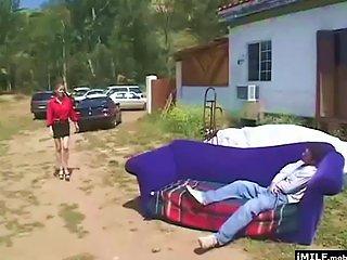 Milf Fucked Hard Outdoors