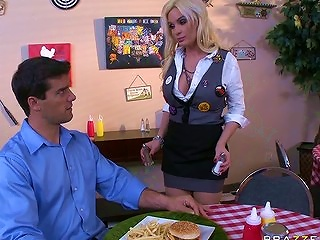 Big Tit Blonde Milf Pornstar Diamond Is A Slut Waitress